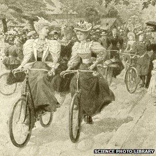 Cycling in Battersea Park 1890s