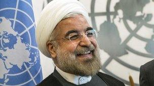 President Rouhani at the UN in New York