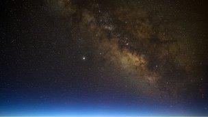 Milky way at dusk