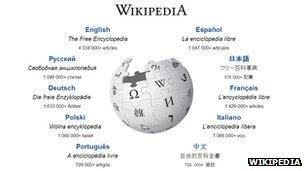 Wikipedia home page