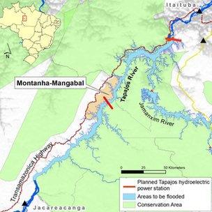 Map of Montanha-Mangabal