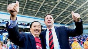Vincent Tan a Malky Mackay