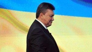 Ukrainian President Viktor Yanukovych at a press conference in Kiev on March 1, 2013.