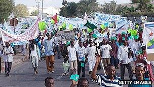 Demonstrators in Djibouti