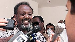 Newly elected President Ismael Omar Guelleh