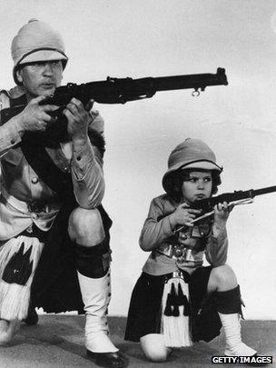 Shirley Temple & Victor McLaglen in Wee Willie Winkie