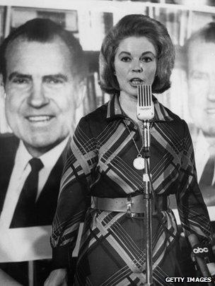 Shirley Temple speaking in support of Richard Nixon