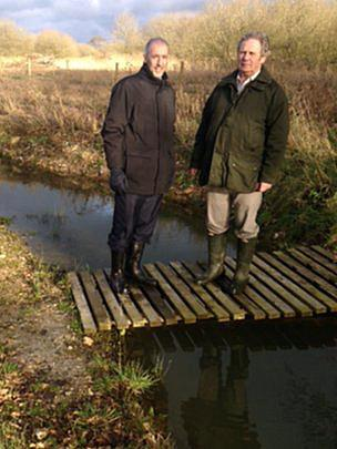 David Nussbaum (left) and John Austen on the young River Nar