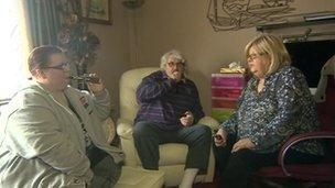 The Heseltine family using their e-cigarettes
