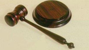 File photo: A judge's gavel