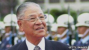 Former Taiwanese president Lee Teng-hui
