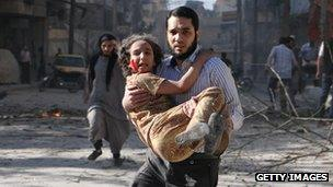 Child victim of bombing