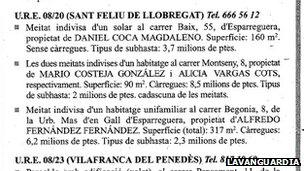 Piece in Spanish newspaper