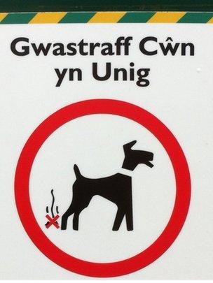 Arwydd Gwastraff Cwn