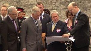 Prince Charles at Armagh Jail in 2012