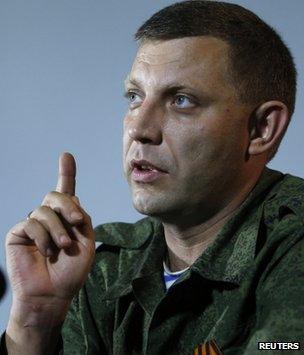 Alexander Zakharchenko in Donetsk, 15 August