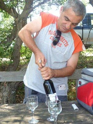 Winemaker Malkaz Jakeli makes organic, unfiltered wine in Georgia's Kakheti region
