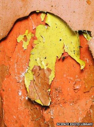 Peeling lead paint