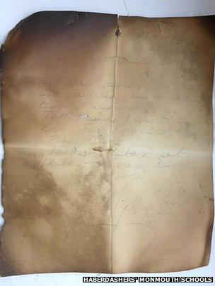 The letter found in the chimney