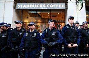 Police outside Starbucks