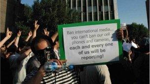 Protestor in Tehran