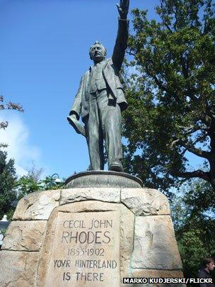 Rhodes statue, South Africa