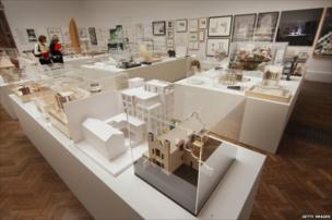 Architectural models and drawings at The Royal Academy Summer Exhibition