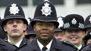 A black police officer