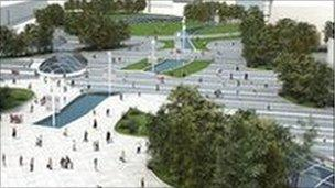 Image of Union Terrace Gardens plan
