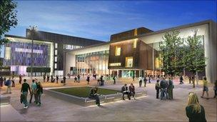 Computer-generated image of new venue