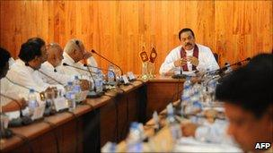 President Rajapaksa chaired the meeting