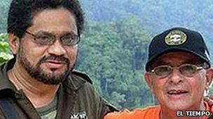 File photo from 2007 showing Rodrigo Granda and Ivan Marquez - courtesy El Tiempo