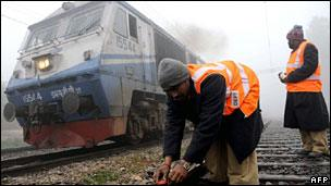 Tracks being repaired in India