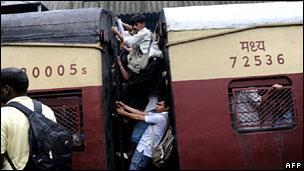 Suburban train in Mumbai