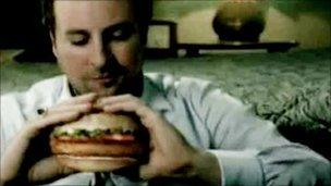 The banned burger advert