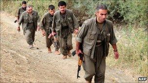 PKK fighters in northern Iraq (28 October 2009)