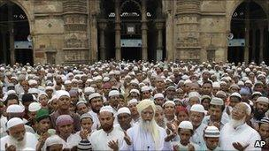 Indian Muslims in Ahmedabad, file image
