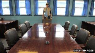The negotiating table between North and South Korea (file photo)