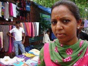 Street vendor Kavita Jadav