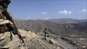 Pakistani paramilitary troops in South Waziristan