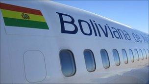 Boliviana de Aviacion plane