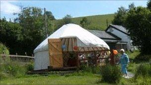Yurt at Broome Retreat, Powys