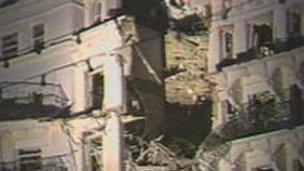 Aftermath of the IRA bomb in Brighton