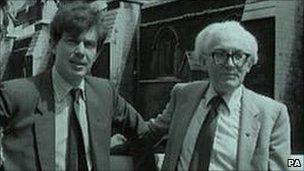 Tony Blair and Michael Foot in 1982