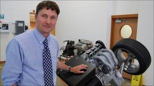 Chief engineer Steve Doyle with the three-cylinder range extender