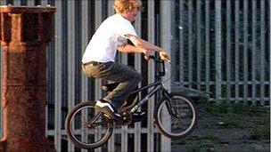 A BMX rider