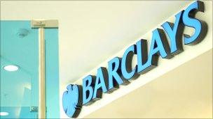 Barclays branch sign