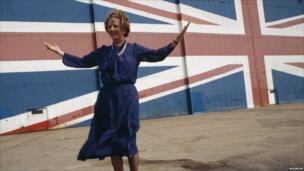 Mrs Thatcher launching the Conservative Party manifesto, 1983