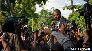 Wyclef Jean in Port-au-Prince, Haiti, on 5 August, 2010