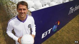 Michael Owen promotes BT's broadcasting of Sky Sports channels
